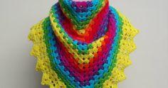 Rainbow Shawl This crochet tutorial is available for free... Full post: Crochet Rainbow Shawl