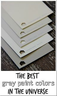 Here's a simple list of the five best gray paint colors for your home. Take the challenge out of choosing a gray with these five classic gray paint colors from Thistlewood Farms. Best Gray Paint Color, Favorite Paint Colors, Neutral Paint, Interior Paint Colors, Paint Colors For Home, Interior Design, Paint Colours, Interior Ideas, Grey Colors
