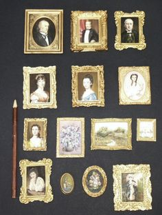 All paintings are painted by me with oil paint (jt-Pinned via the artist Annemarie Kwikkel-Smit) Thing 1, Miniature Rooms, Barbie Accessories, Victorian Christmas, Miniture Things, Small World, Dollhouse Furniture, Doll Houses, Minis