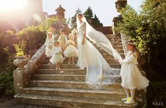 British model Jacquetta Wheeler's Beautiful Castle Wedding | The Front Row View