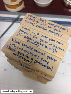 High School Counselor Clique: Career Jenga // follow @counselorclique