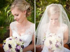 close up of the bride under her veil