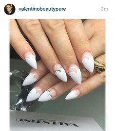 Heart gel nails