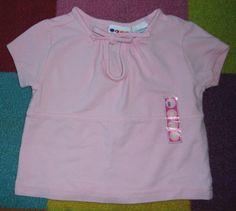 Gymboree Vintage 1999 Retro Mod Keyhole Tie Neckline Cropped Crop Shirt Top 3 4 | eBay