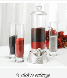 Set 2 Individual Vases with Design Options Personalized Sand Ceremony Set with Engraved Center Vase with Lid /& Two
