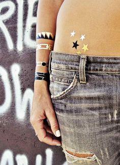 pictures of flash tattoos metallic | Metallic Flash Tattoos