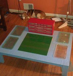DIY Lego Table! Great Idea, Super easy too!