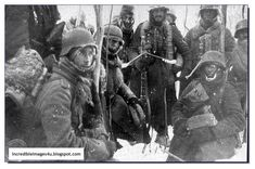 Soldiers from Spain in Leningrad. 1942/43. From the Blue Division