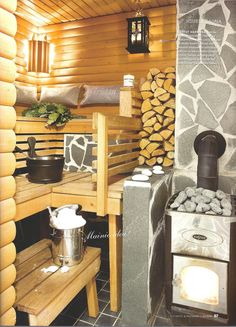 sauna style why not try it as the design in a small cabin