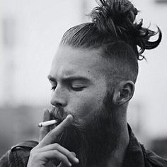 Undercut with Top Knot or Man Bun