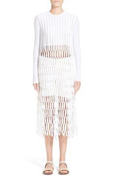 ROSETTA GETTY Glossed Cotton & Nylon Crochet Top. #rosettagetty #cloth #