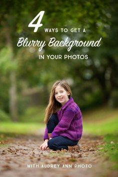 kick your photography skills up a notch? Try these 4 Easy Ways to get a beautiful blurred background in your photos.Want to kick your photography skills up a notch? Try these 4 Easy Ways to get a beautiful blurred background in your photos. Photography Basics, Photography Lessons, Photography Camera, Photography Business, Photography Tutorials, Digital Photography, Art Photography, Iphone Photography, Night Photography