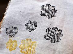 Block printed fabric by Leslie Keating