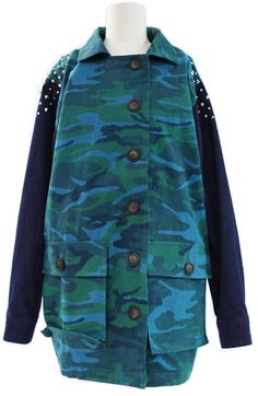 Camouflage Jumper (2 Colors)  | Fall & Winter | Dolly & Molly | www.dollymolly.com | #runway, #makeup #cute #army #blue #green #boylish #chic #vintage #outer #trendy #working #camping #climbing #cycling #dance
