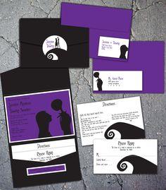 Jack and Sally Wedding Invitations.