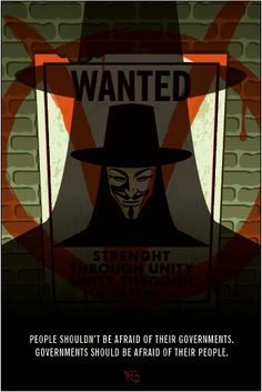 V V for Vendetta poster made by me < Credit goes to whoever that is - The wolf that kills V For Vendetta Speech, V For Vendetta Poster, V For Vendetta Tattoo, V Pour Vendetta, V For Vendetta Wallpapers, Ideas Are Bulletproof, The Fifth Of November, Hacker Wallpaper, Guy Fawkes