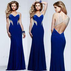 2016 Royal Blue Sexy Open Back Long Mermaid Elegant V-neck Prom Dresses 2015  Vestidos De Fiesta Longo Formla Event Women Prom Dress 06f0fb96b