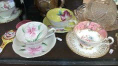 The soft pastel colors. Spring Is Here, Fine Porcelain, Spring Colors, Fine China, Stores, Pastel Colors, Tea Cups, Tableware, Canada