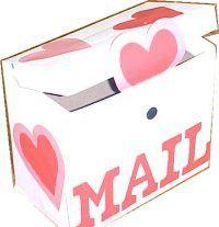 Recycled Laundry Box Valentine Mailbox Craft