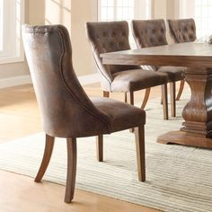 cheap tufted dining room chairs