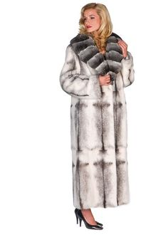 Shop Madison Ave Mall for the Black Cross Mink Coat - Chinchilla Shawl Collar. Best quality furs at discount prices. Classy Outfits, Vintage Outfits, Chinchilla Coat, Coat Outfit, Sweater Coats, Fur Coats, Fur Clothing, Shearling Coat, Fur Jacket