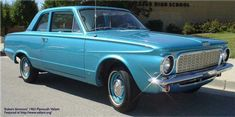 1963 Plymouth Valiant / 225 Slant 6 / Couldn't stop it with a bazooka.