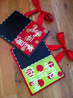 Days til Christmas chalkboards. $26.00, via Etsy.