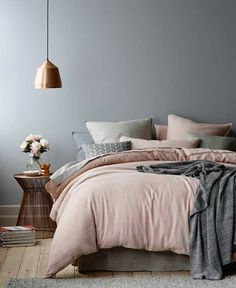 With pastel or pale blue instead of the blush pink