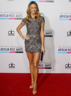 Stacy Keibler's Collette Dinnigan minidress. Stacy Keibler, Peplum Dress, Bodycon Dress, Legs For Days, American Music Awards, Great Legs, Beautiful Actresses, Beauty Women, Fashion Show