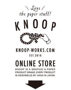ユニセックスな紙雑貨 KNOOP