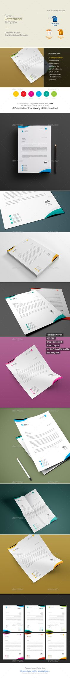 Letterhead on Pinterest - corporate letterhead template