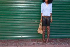Style Pantry: Oxford + Coated Jeans (and the boots!)