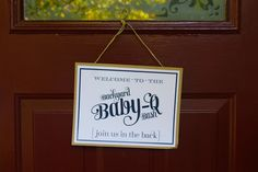 Baby Q Shower Ideas | Sign for baby shower baby q