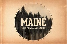 Maine is the Pine Tree State!