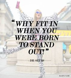 Why fit in when you were born to stand out? Be bold, be daring. Colorblock, wear bold prints, take a fashion risk. www.shopatchicboutique.com
