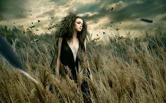 Shinji-Watanabe Fashion photography manipulations cg digital-art women girls gothic models mood fantasy people wallpaper background