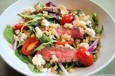 Steak-Quinoa Salad with Avocado-Lime Ranch Dressing, a recipe on Food52
