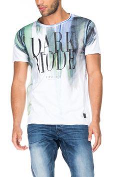 T-shirt 1st level justa com gráfico localizado | 116460 Branco | Salsa