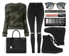 """street style"" by sisaez ❤ liked on Polyvore featuring Valentino, Yves Saint Laurent, Topshop, adidas, NARS Cosmetics and Ray-Ban"