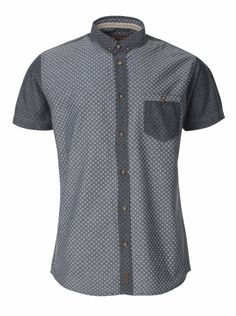 dd9df754ebbb Twisted Soul Mens Blue Chambray Block Short Sleeve Shirt Summer Shirts