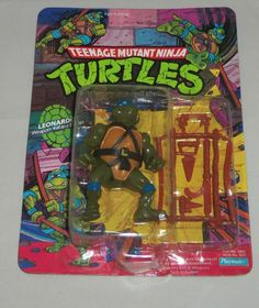 1990 TMNT VINTAGE TEENAGE MUTANT NINJA TURTLES LEONARDO UNPUNCHED CARD
