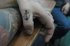 This is crazy that I stumbled upon this on Pinterest becasue last week Brandon and I were just talking about getting little anchor tatoos like this on our ring fingers!