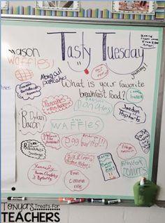 Tonya's Treats for Teachers: {Daily Graffiti Wall}