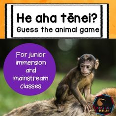 Help your tamariki learn the Maori names of zoo animals. A great activity for junior and pre-school children.Children match the picture of a 'close up' of an animal to the full picture.  There are 10 sets. Animals included: zebra - hepapacamel - kmeradeer - tiaelephant - arewhanagiraffe - kakroatiger - taikturtle - honusnake - nkahimonkey - makimakipenguin - kororKey vocabulary is included so children learn the names of zoo animals in Maori too.