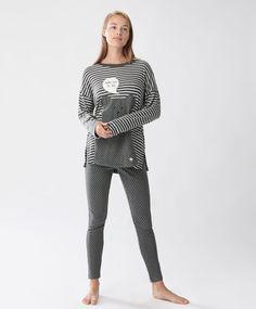 Pantaloni lunghi a pois - Novità - Tendenze moda donna AW 2016 su Oysho on-line…