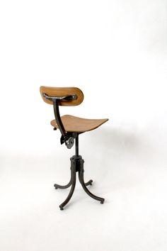 SOLD - Vintage original French Bienaise industrial Chair