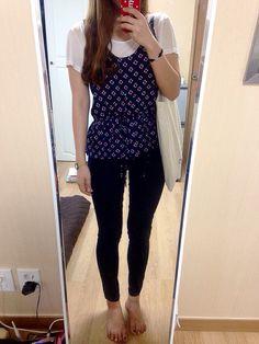 #zara #blouse #uniqlo #leggingsjean #cruciani