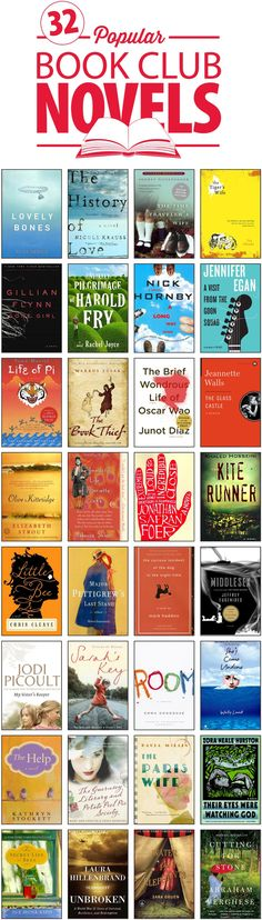 Top 32 Popular Fiction Books for Book Clubs | The Half Price Blog