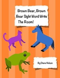 This is a fun way to reinforce sight words using some of our favorite characters from the book, Brown Bear, Brown Bear! Copy, laminate and cut out the cards, place the cards around the room, have students write the sight words they know on paper! These cards can be used as flashcards, centers, and so much more!