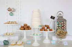 Simply Stunning Holiday Dessert Table {Party Inspiration}